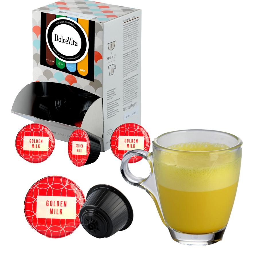 Golden Milk  Curcuma professional compatibile Dolce Gusto® HoReCa  DolceVita