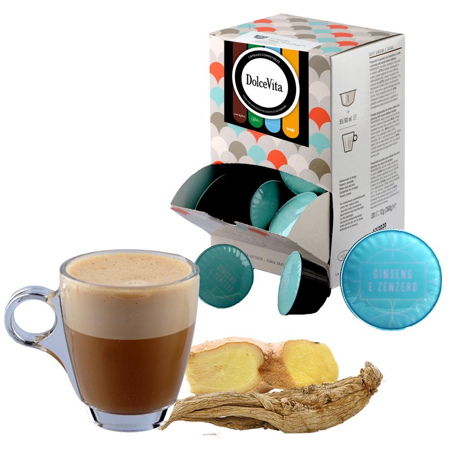 Café Ginseng e Zenzero (Gingembre) professional  compatible Dolce Gusto® HoReCa DolceVita