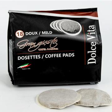 COMPATIBLES SENSEO 180 Dosettes -Puro Arabica Dolce Vita 55mm