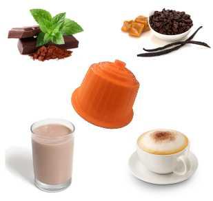 kit Dégustation Dolce Gusto GOURMET ORANGE 2 compatible Dolce Gusto de 64 capsules-16 Cappuccino Vanille –16 Choco Quick– 16Cappuccino Classique – 16Choco Mente